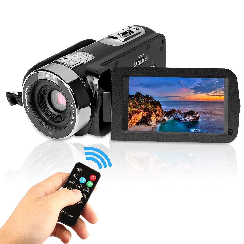 GordVE KG004 2.7' LCD Screen Digital Video Camcorder Night Vision 24MP Camera HD Digital Camera SZJBL04
