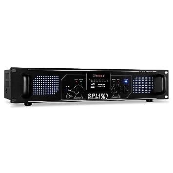 Skytec SPL-1500 Amplificador HiFi-PA 4200W USB SD MP3: Amazon.es: Electrónica