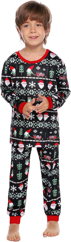 Aibrou Pajama Set Cute Printed Top and Pants Two Piece Cotton Pajamas Soft Sleepwear Pjs Sets