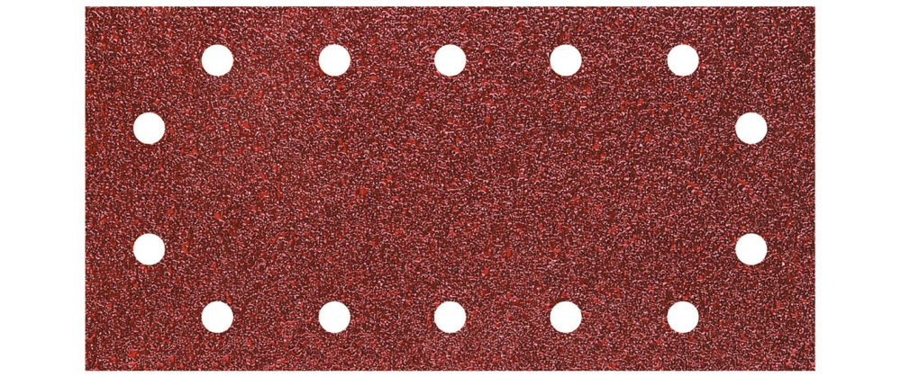 Wolfcraft 3185000 3185000-5 Tiras abrasivas con Adhesiva, corindó n, Perforadas, Plata, Grano 120, 11 x 230 mm, Set de 5 Piezas corindón