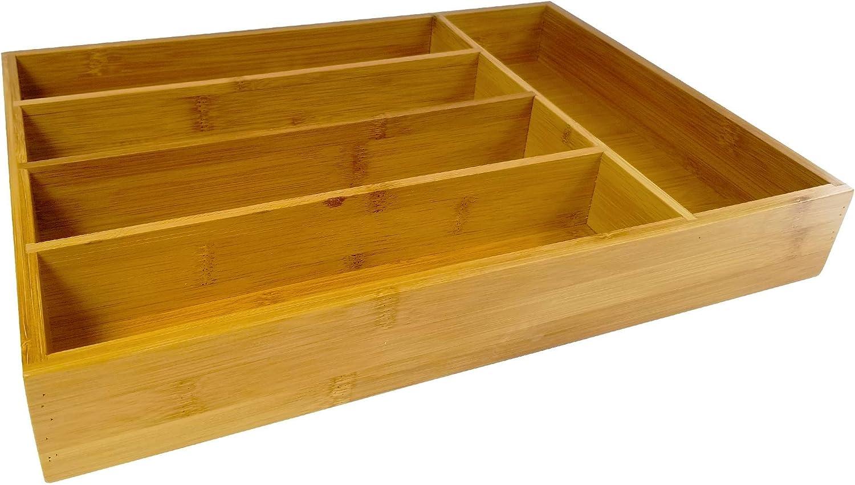 Amazon.com: Utensilios de cocina de bambú Organizador de ...