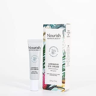 product image for Nourish Botanical Beauty | Luminous Eye Cream | GMO-Free, Cruelty Free, 100% Vegan (0.5oz)