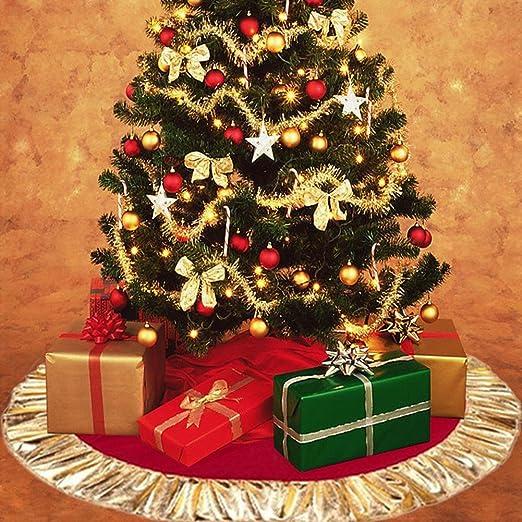 Gran base de árbol de Navidad, árbol de Navidad rojo para falda ...