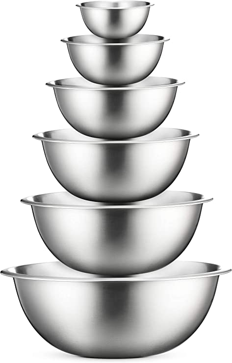 Stainless Steel Mixing Bowls (Set of 6) Stainless Steel