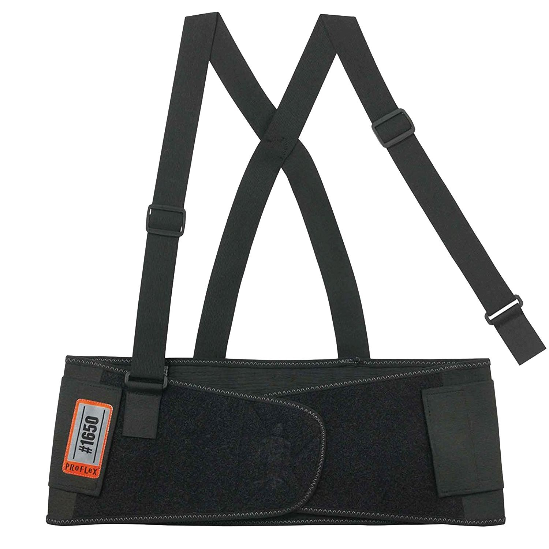 Ergodyne Proflex® 1650Elastano ajustable–Vendaje para la espalda/Apoyo Cinturón/Correa/Espalda Faja Lumbar