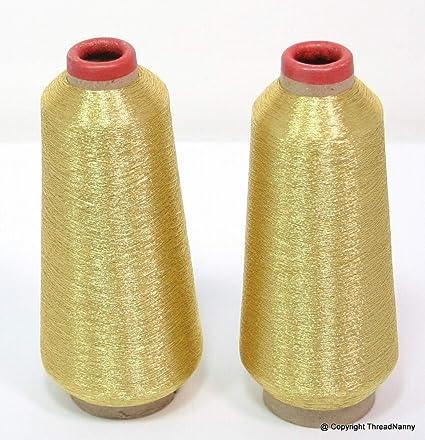 ThreadNanny dorado y plateado metálico para máquina de coser hilos