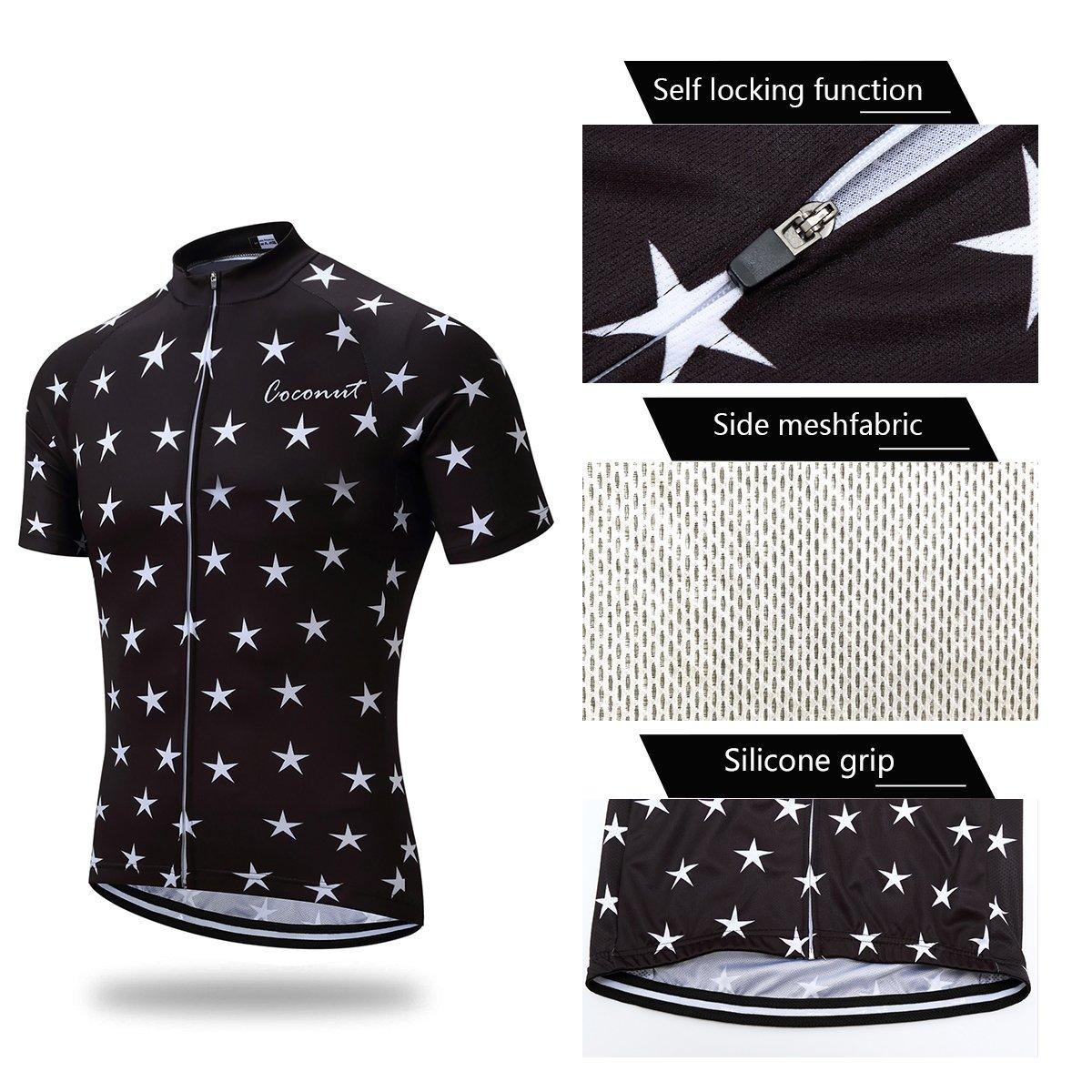 Amazon.com  Men s Cycling Jersey Set Road Bike Jersye Short Sleeves Cycling  Kits + Bib Shorts with 3D Padded  Clothing 5884ebcf7