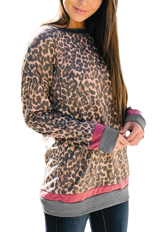 Pullover Damen Fr/ühling Herbst Loose Freizeit Sweatshirt Tops Elegante Rundhals Jungen Chic Langarm Mode Buchstabe Mit Aufdruck Basic T-Shirt Shirt