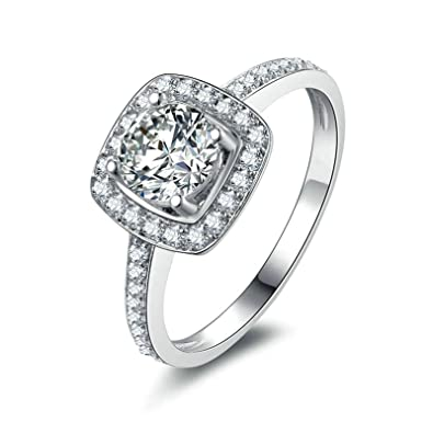 9f71cdaae9d4d Amazon.com: Aooaz Jewelry Wedding Ring Silver Material Girlfriend ...