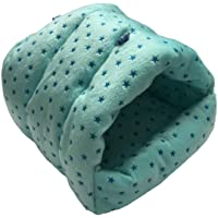 WowowMeow Small Animals Warm Cage Hanging Cave Bed for Chinchillas, Guinea Pigs, Hamsters, Rats, Squirrel and Rabbits (S…