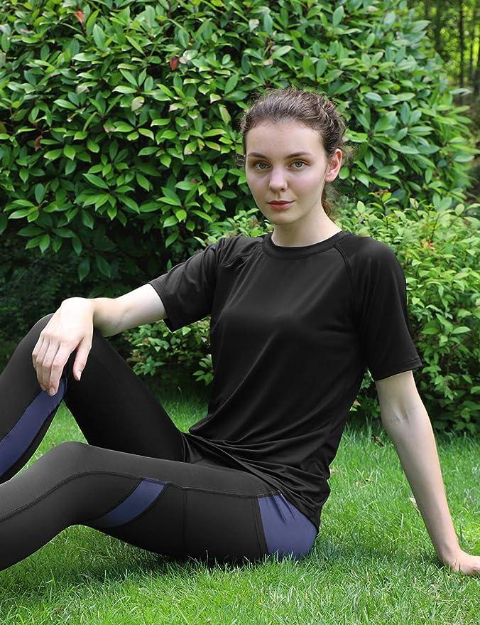 DISHANG Womens Short Sleeve T-Shirt Dry-Fit Cool Activewear Tops