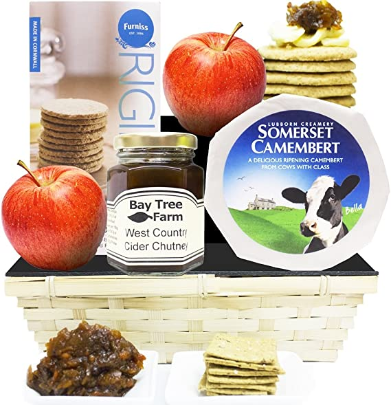 Eden Cheese Tray Hamper Gift Traditional Cheese Gifts Luxury Gourmet Cheese Hampers By Eden4hampers Amazon Co Uk Grocery