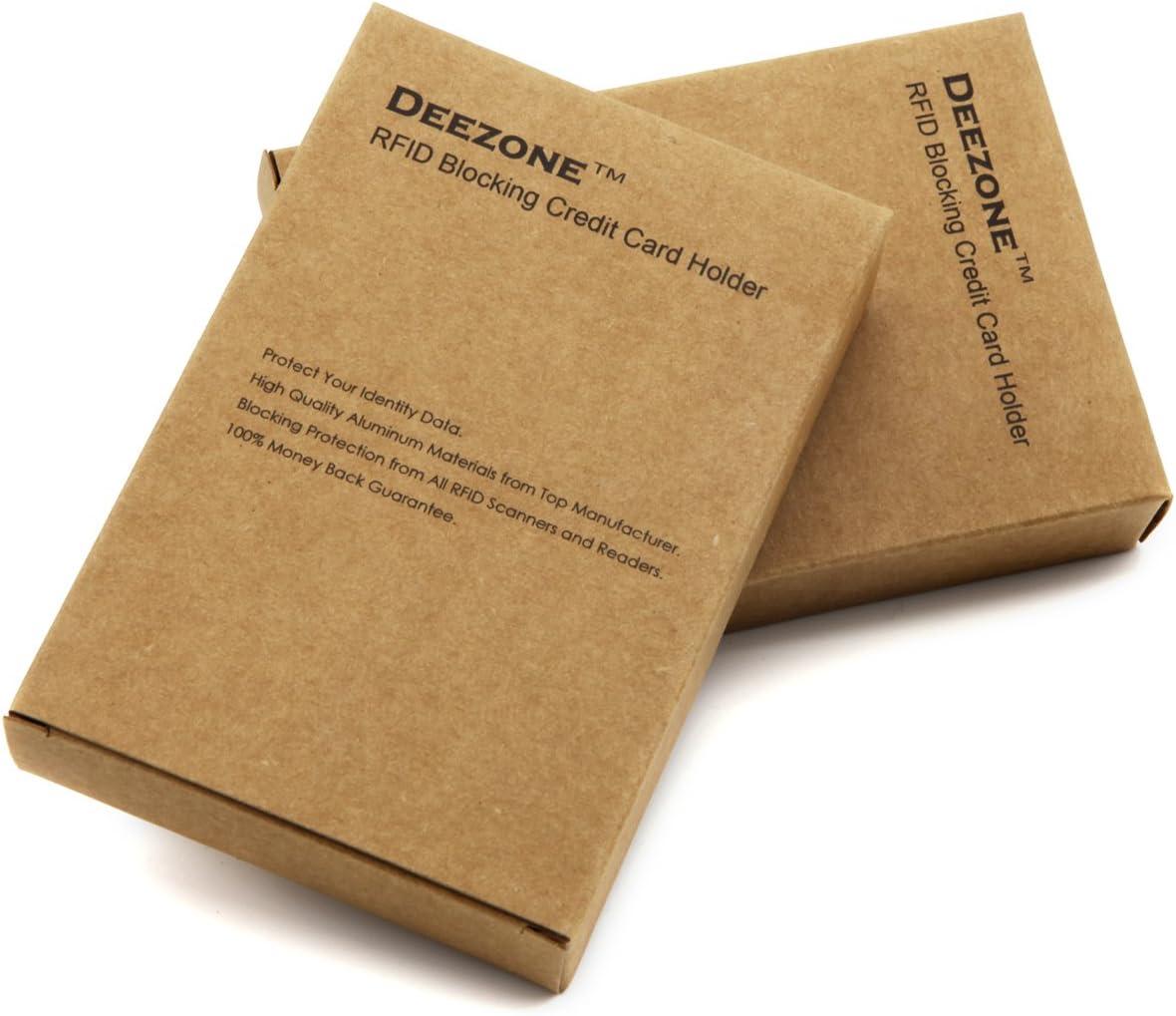 Cool Slim Metal Business Card Case DZ16003C Deezone Latest Aluminum RFID Blocking Credit Card Holder for Men /& Women