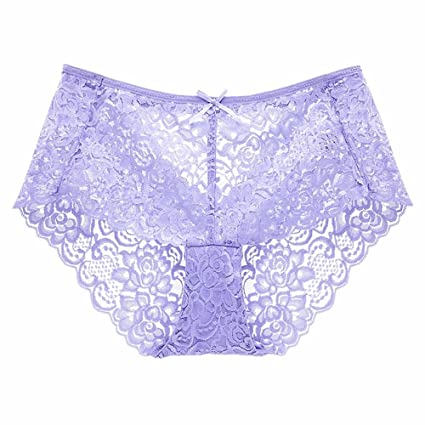 GQFGYYL Women s Lace, Perforado, Transparente, sin Costura, Ropa Interior,
