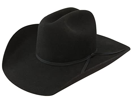 f95f75b0b4095 Amazon.com  Resistol Boys Crossroads Jr Felt Cowboy Hat One Size Fits Size  7   Smaller Black  Clothing