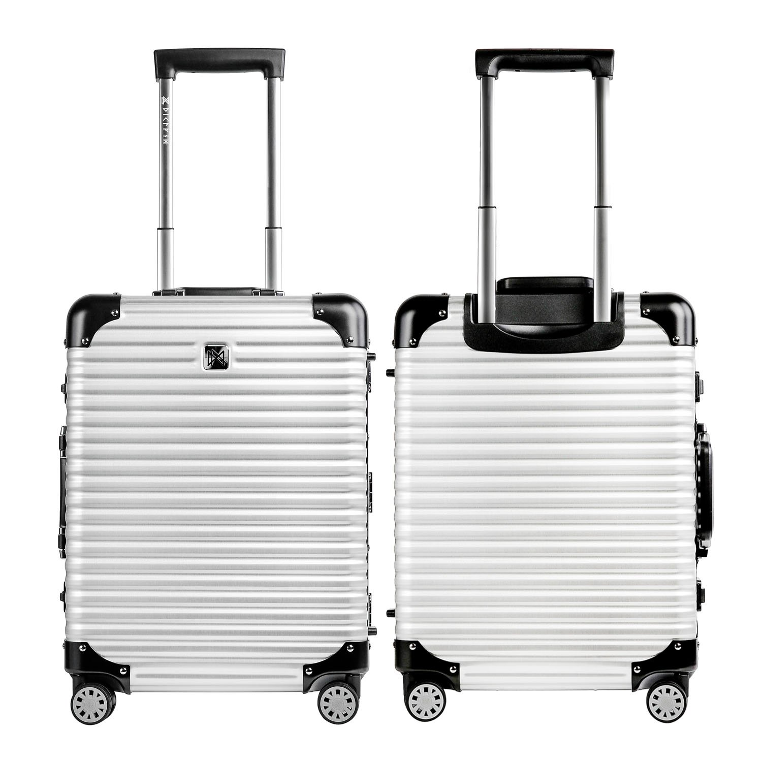 LANZZO Aluminum Magnesium Alloy Luggage with Spinner Wheels TSA Lock Approved Hardshell Travel Suitcase, 20inches, Silver by LANZZO (Image #4)