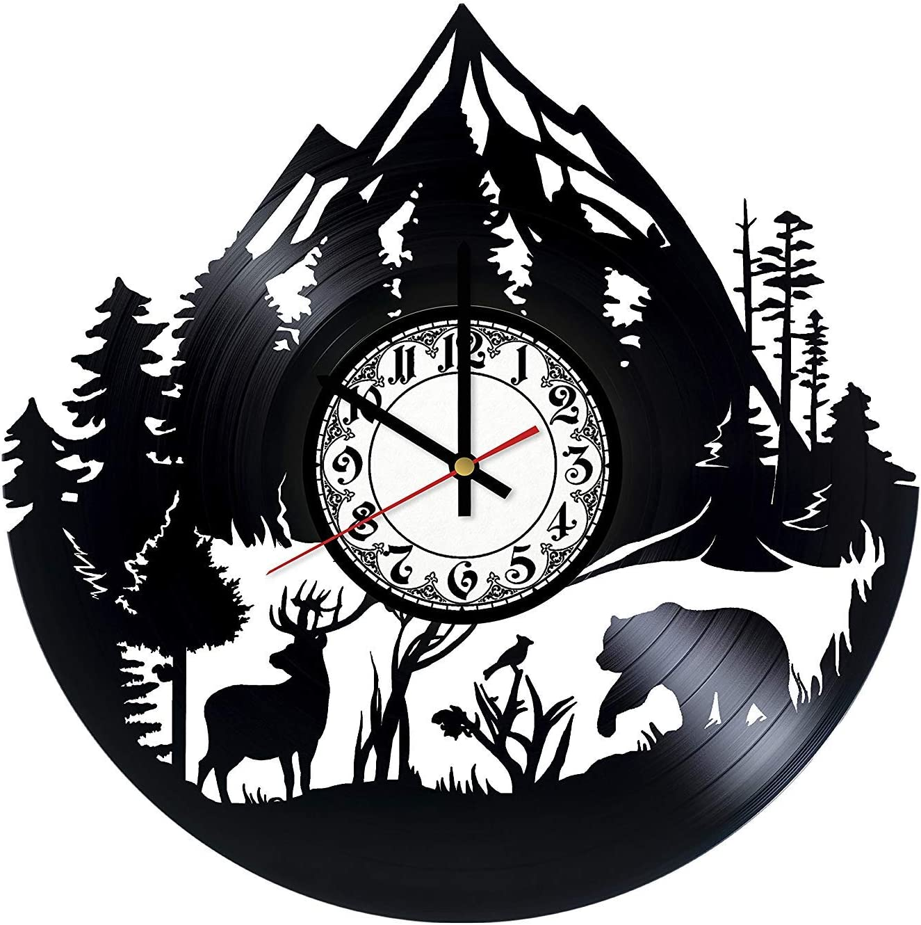Home & Crafts Forest Nature Handmade Vinyl Record Wall Clock - Unique Bedroom and Living Room Decor Great Gift Idea
