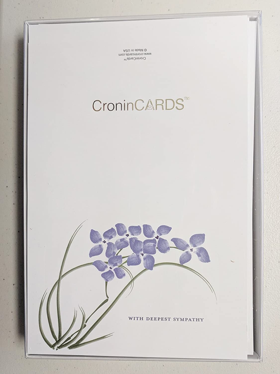 Amazon sympathy cards violets box of 30 blank note cards amazon sympathy cards violets box of 30 blank note cards and 32 env made in usa by cronincards office products izmirmasajfo