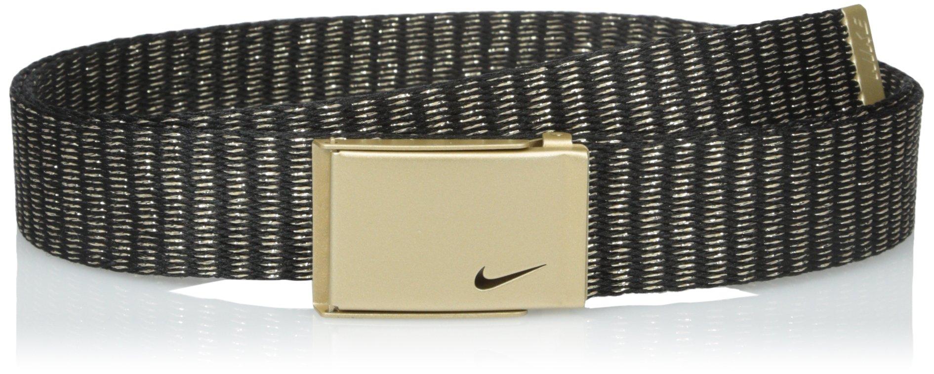 Nike Women's Lurex Single Web Belt, Gold, One Size