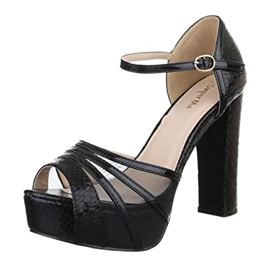 Cingant Woman Damen Sandaletten - Black Schwarz, EU 39