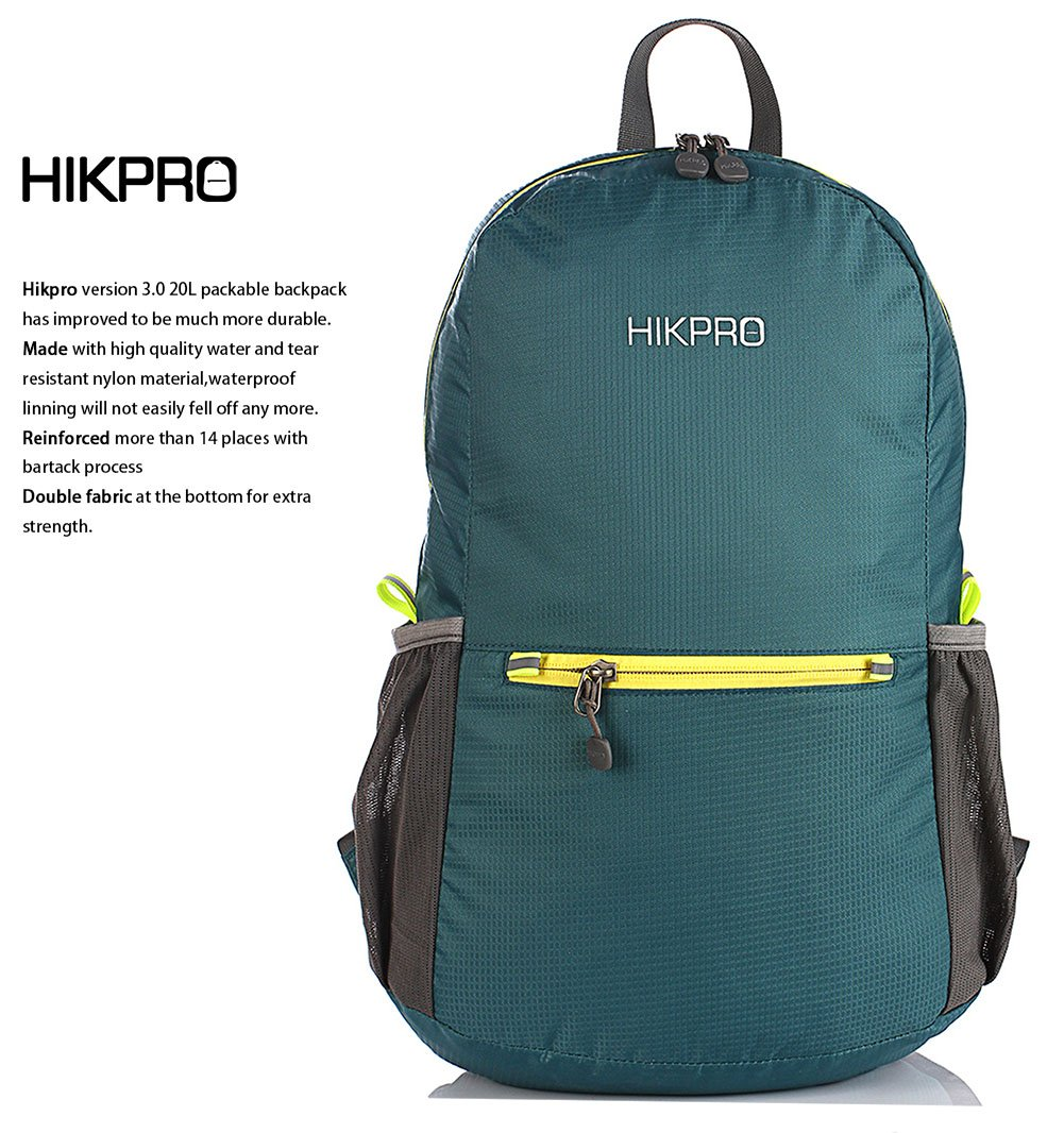 Hikpro 20L - The Most Durable Lightweight Packable Backpack, Water Resistant Travel Hiking Daypack For Men & Women by HIKPRO (Image #2)