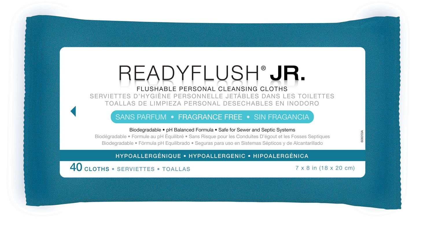 Amazon.com: Readyflush Fragrance Free 7inchx8inch 40/pk - Case Of 24 Pks: Health & Personal Care