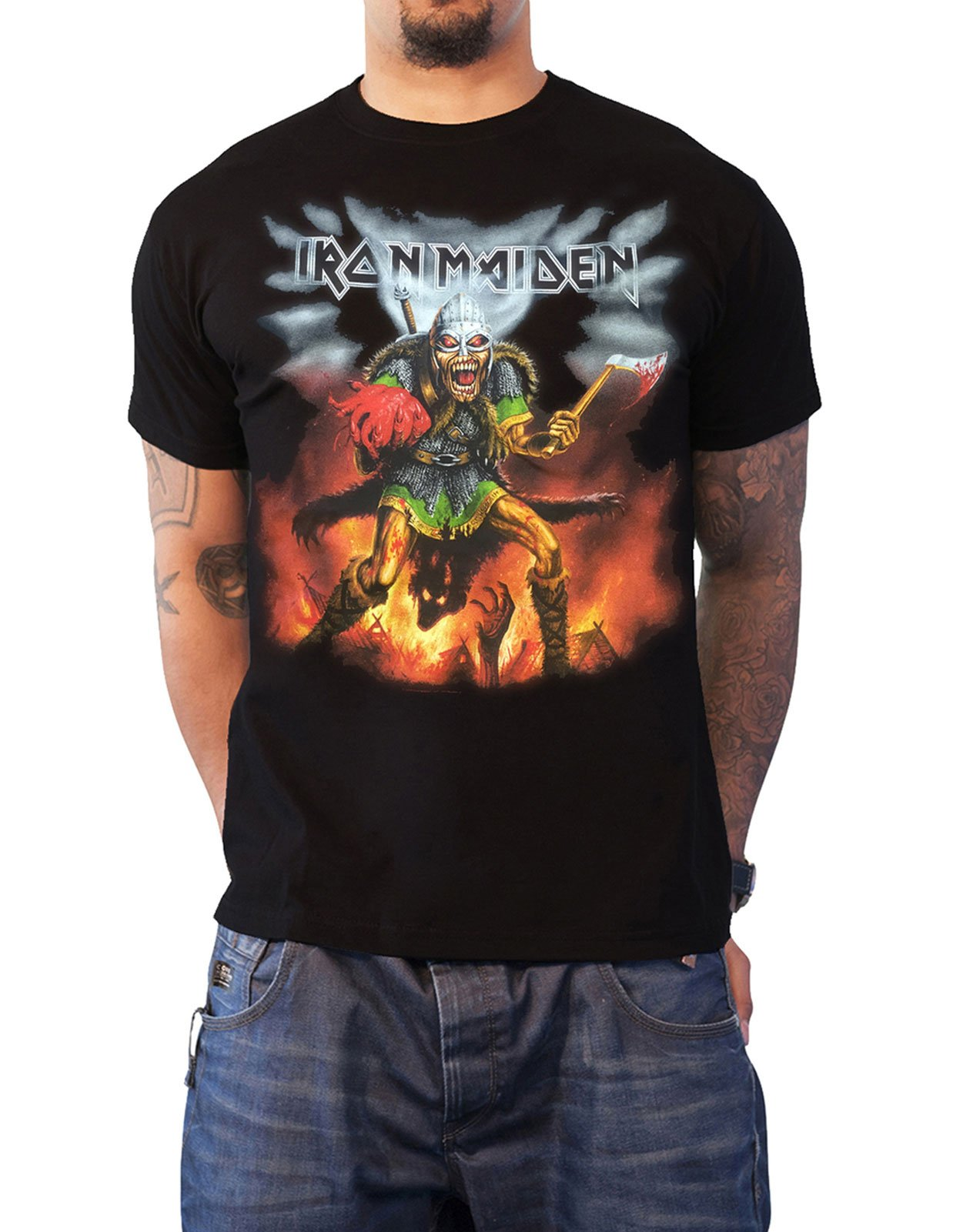Official Iron Maiden T Shirt Book Of Souls Tour Nordic Event 2016 Mens Black
