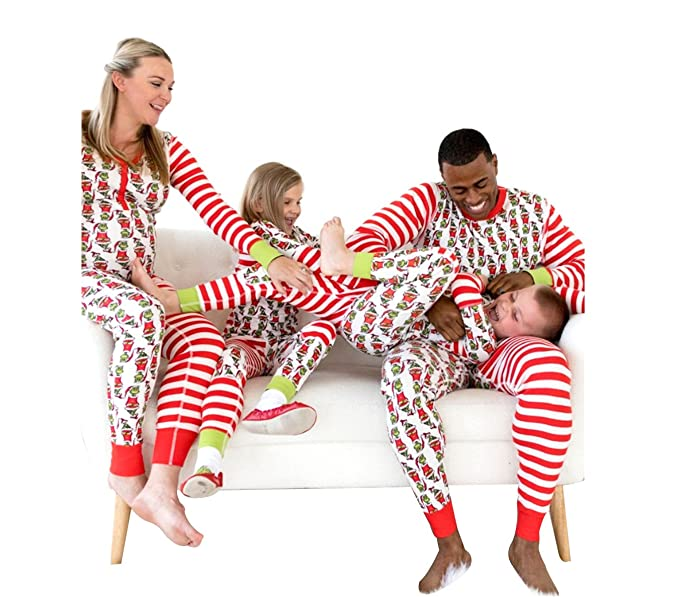 u wardrobe christmas matching family striped pajamas kids 2t