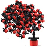 LUFA 100pcs Plastic Adjustable Emitter Dripper Micro Drip Irrigation Sprinklers Watering System Automatic Water Spray Nozzle