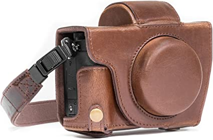 Megagear Ever Ready Leder Kameratasche Mit Trageriemen Kompatibel Mit Canon Powershot G5 X