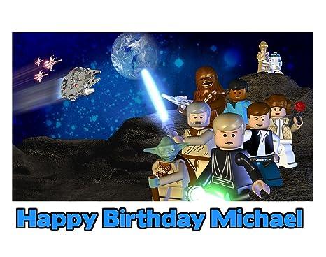Amazon.com: LEGO Star Wars imagen foto decoración para tarta ...