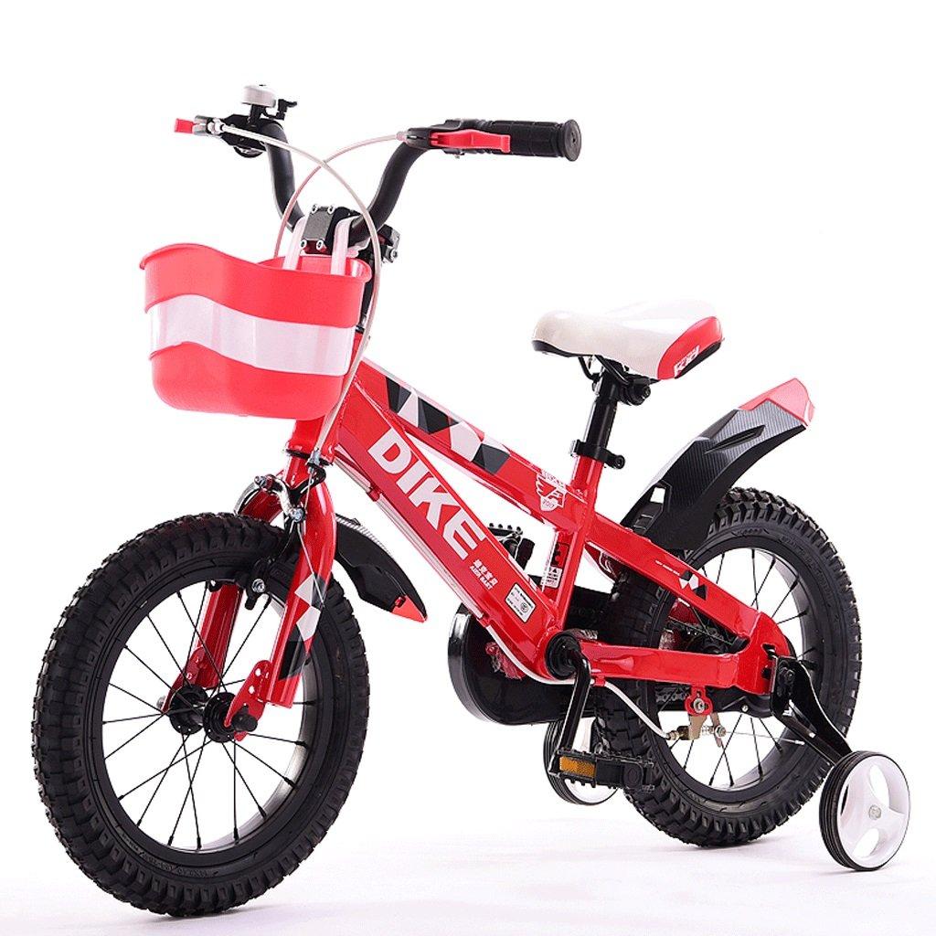 Rot 16 inches DGF Kinder Fahrrad 12 14 16 18 Zoll 3-12 Jahre Alt Jungen und Mädchen Baby Bike Dreirad