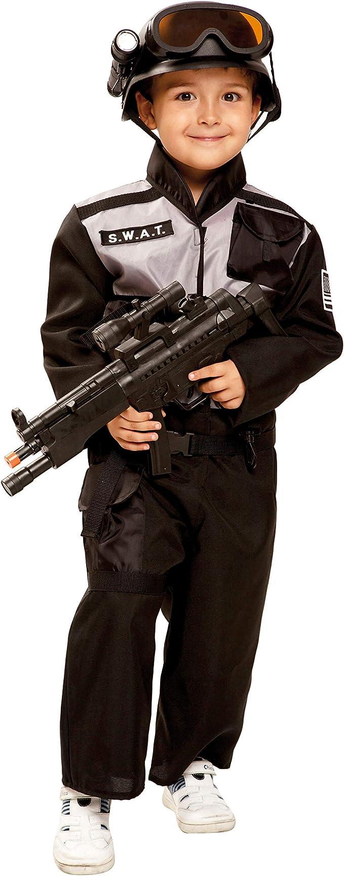 My Other Me Me-202665 Disfraz SWAT para niño, color negro, 5-6 ...