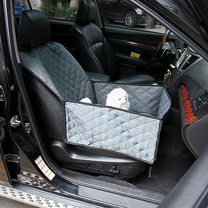 Premewish Fundas de asiento delantero para mascotas, para coches, mascotas, perros, hamacas impermeables, cojín trasero para coche, funda protectora de ...