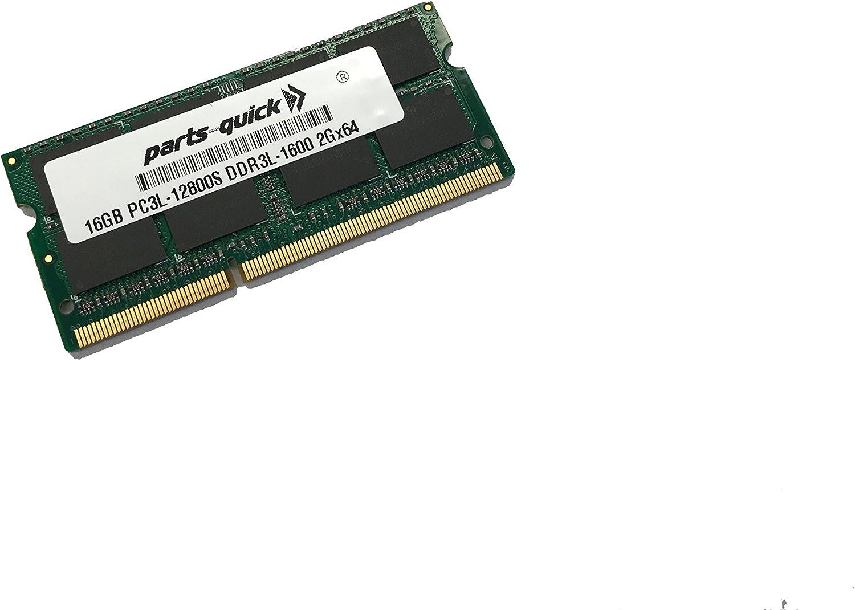 16GB Memory for Dell Latitude, Dell Inspiron, Dell XPS 5th Gen 6th Gen i3 i5 i7 only DDR3L 1600MHz PC3L-12800 SODIMM RAM (PARTS-QUICK Brand)