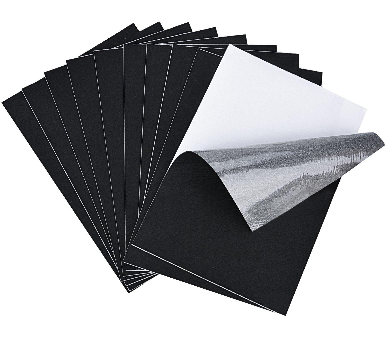 Justdolife 10PCS Felt Sheet Furniture Felt Pad DIY Sticky Back Sheets Self Adhesive Furniture Pad