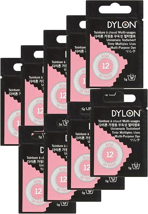 Dylon - Tinte multiusos, diseño de rosa de París, 5 g, color rosa ...