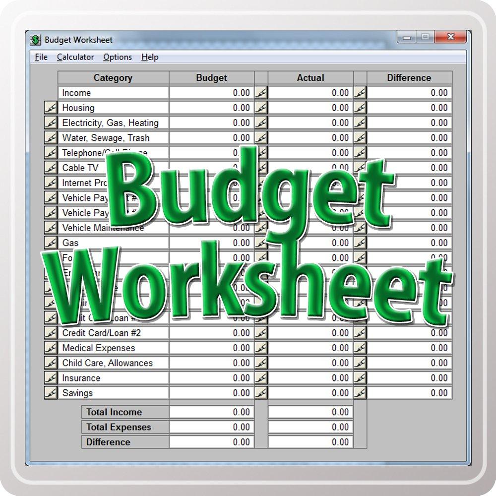 Amazon Budget Worksheet Download Software