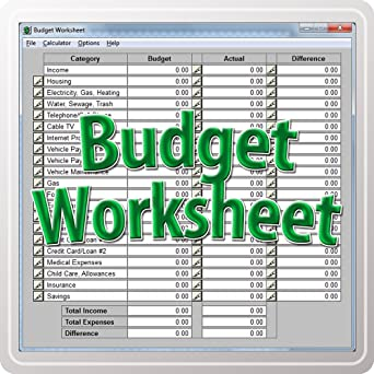 Amazon.com: Budget Worksheet [Download]: Software