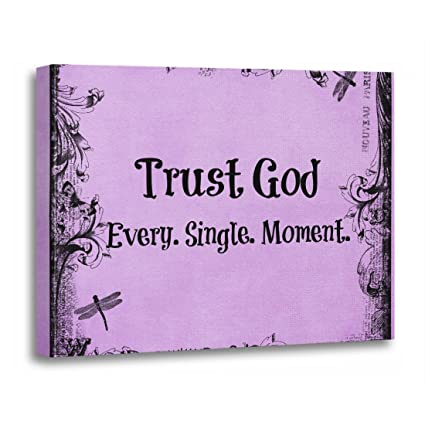 Trust God Quotes Extraordinary Amazon TORASS Canvas Wall Art Print Faith Trust God Quote