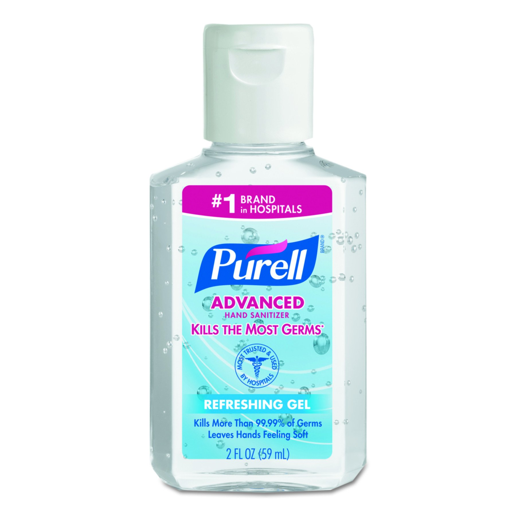 PURELL 9605-24 Advanced Instant Hand Sanitizer, 2 fl. oz. Personal Squeeze Bottle with Flip Top (Case of 24)