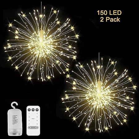 Solar//Battery Hanging Starburst Fireworks Fairy String Light Xmas Party Decor US