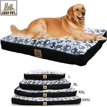 LOSY PET PERDIDO Cinco caras Impermeable Cama para perros Grande lavable Mat Jumbo Grande Pet Faux Suede felpa con extraíble lavable Cover- XL: Amazon.es: ...