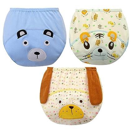 Happy Cherry Pack de 3 Pañales Diferentes de Algodón y TPU Braguitas de Aprendizaje Pantaloncitos para