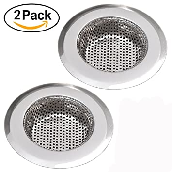 Amazon.com: NHSUNRAY 2pcs Stainless Steel Kitchen Sink Strainer ...