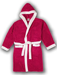 SkylineWears Kids Girls Boys Robe 100/% Cotton Soft Terry Hooded Bathrobe Luxury Dressing Gown