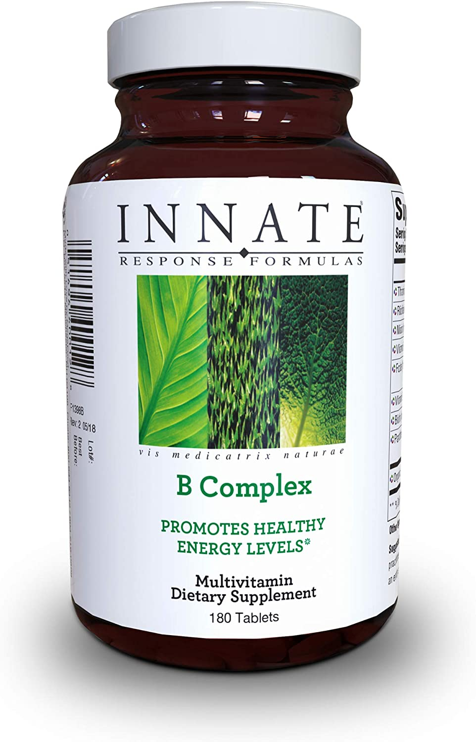 INNATE Response Formulas – B Complex, Promotes Energy and Health of The Nervous System, 180 Tablets
