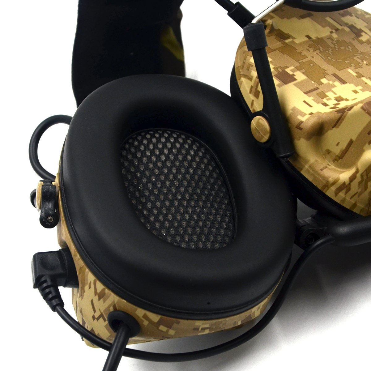 Electronic Earmuff Sport Hearing Protector for Hunting & Shooting, Sand Color by Dolphin (Image #7)