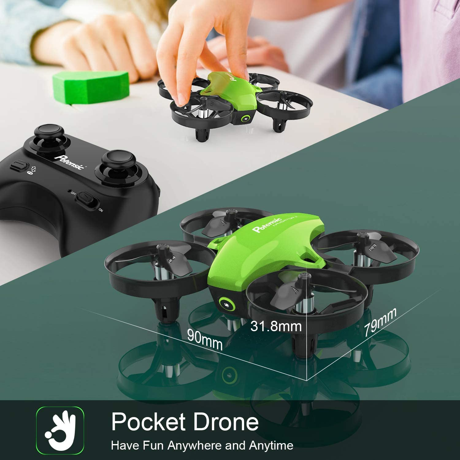 Potensic Mini Drone A20 is the best rc nano quadcopter pocket drone and best specifications review
