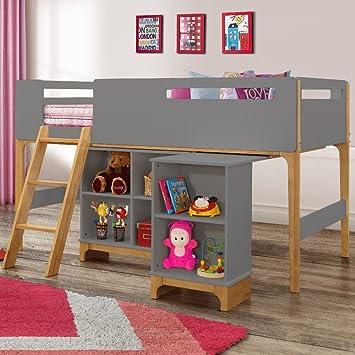 Amazon.de: Happy Beds Islington Holz Hochbett Aufbewahrung Kinder ...